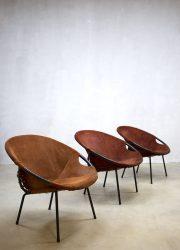 suède vintage kuipstoelen stoelen Lusch & Co balloon chairs