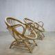 Rare vintage bamboo lounge chairs, zeldzame vintage bamboe lounge fauteuils