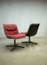Midcentury vintage design stoel Pollock chair office chair dinner chair Knoll jaren 60 sixties