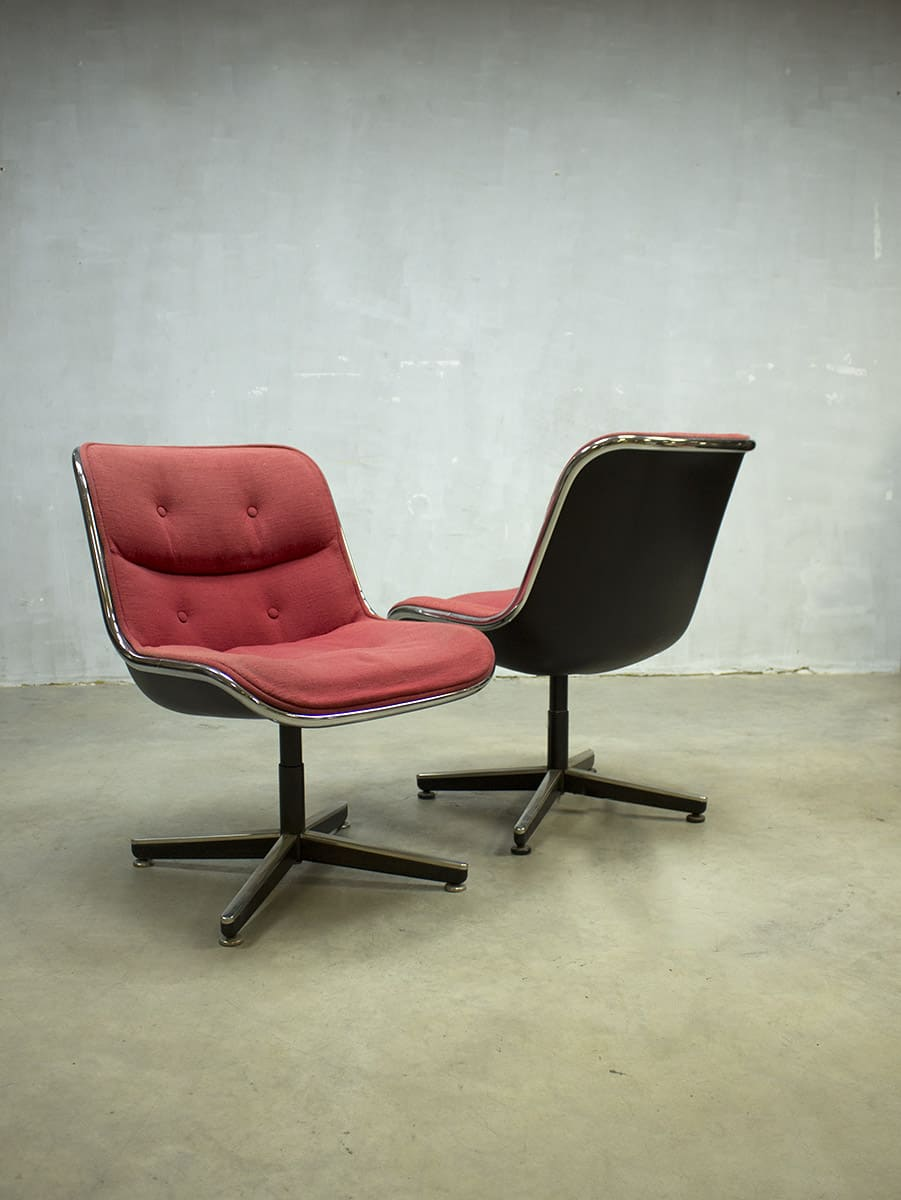 Midcentury Vintage Design Stoel Pollock Chair Office Chair