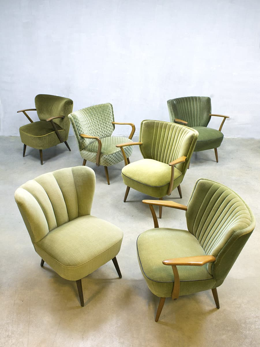 Vintage Mid Century Fifties Design Cocktail Chairs
