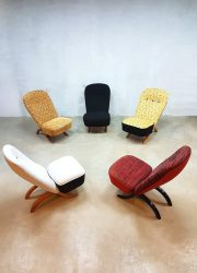 Vintage Artifort Congo chairs Theo Ruth Dutch design fauteuil