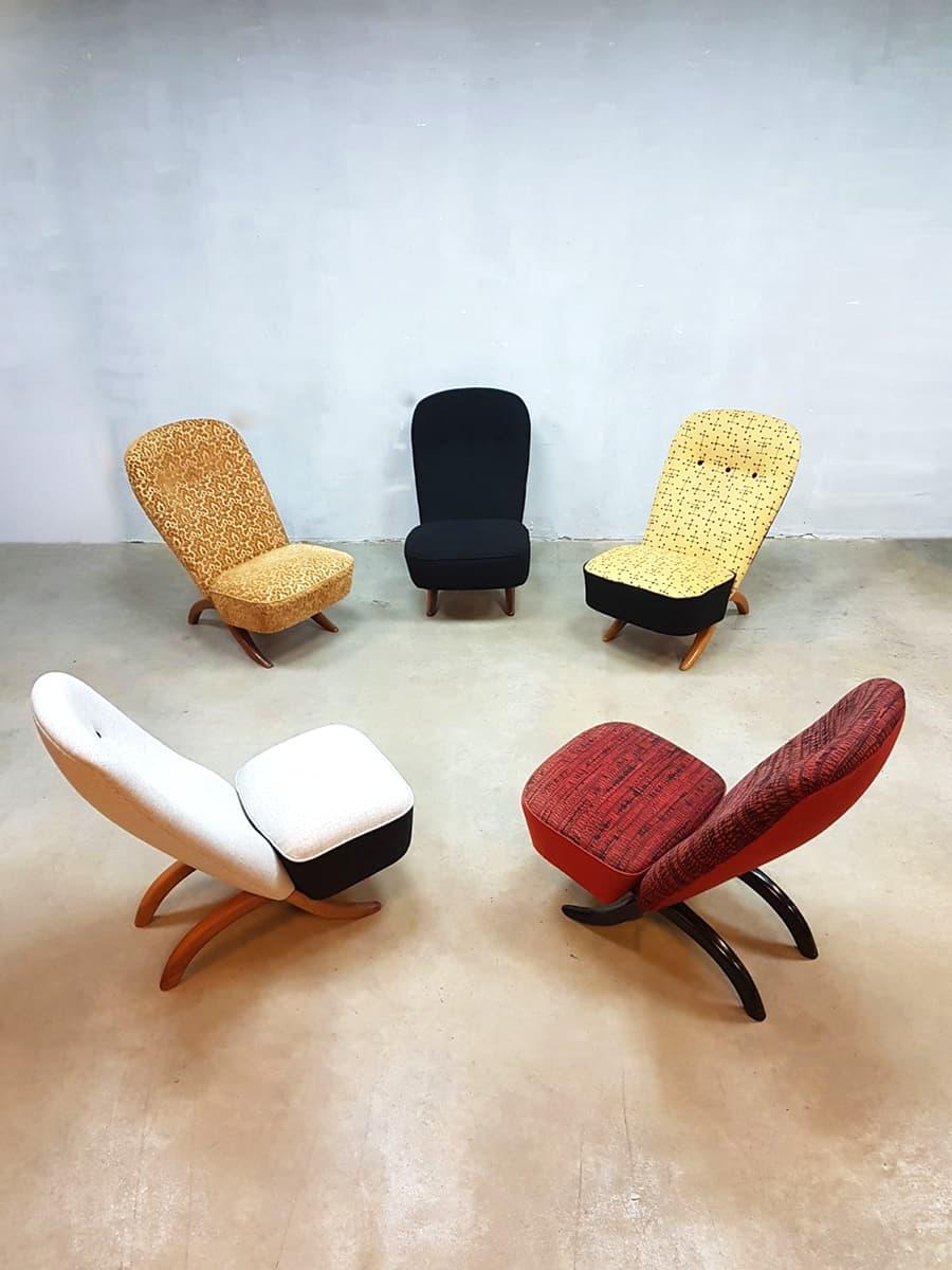 Design Fauteuil Tweedehands.Vintage Artifort Congo Chairs Theo Ruth Dutch Design Fauteuil