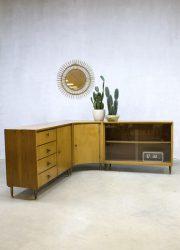Midcentury vintage design wandkast dressoir cabinet counter