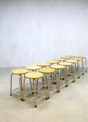 vintage Industrial stools stool, vintage kruk krukken industrieel