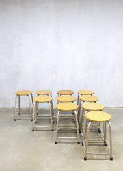 Industrial vintage stool stools sixties seventies