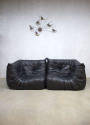 Togo Ligne Roset leather sofa bank hoekelementen vintage design