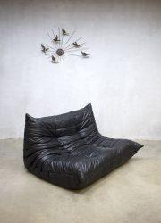 vintage leren lounge bank Togo Ligne Roset