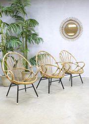 vintage rotan lounge stoel stoelen Rohe Noordwolde