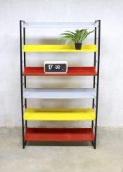 Vintage boekenkast wandrek bookcase cabinet Tomado A.D. Dekker