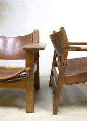 Mid century design scandinavian Borge Mogensen Spaanse stoel