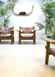 Mid century modern stoel fauteuil Spaanse stoel Borge Mogensen