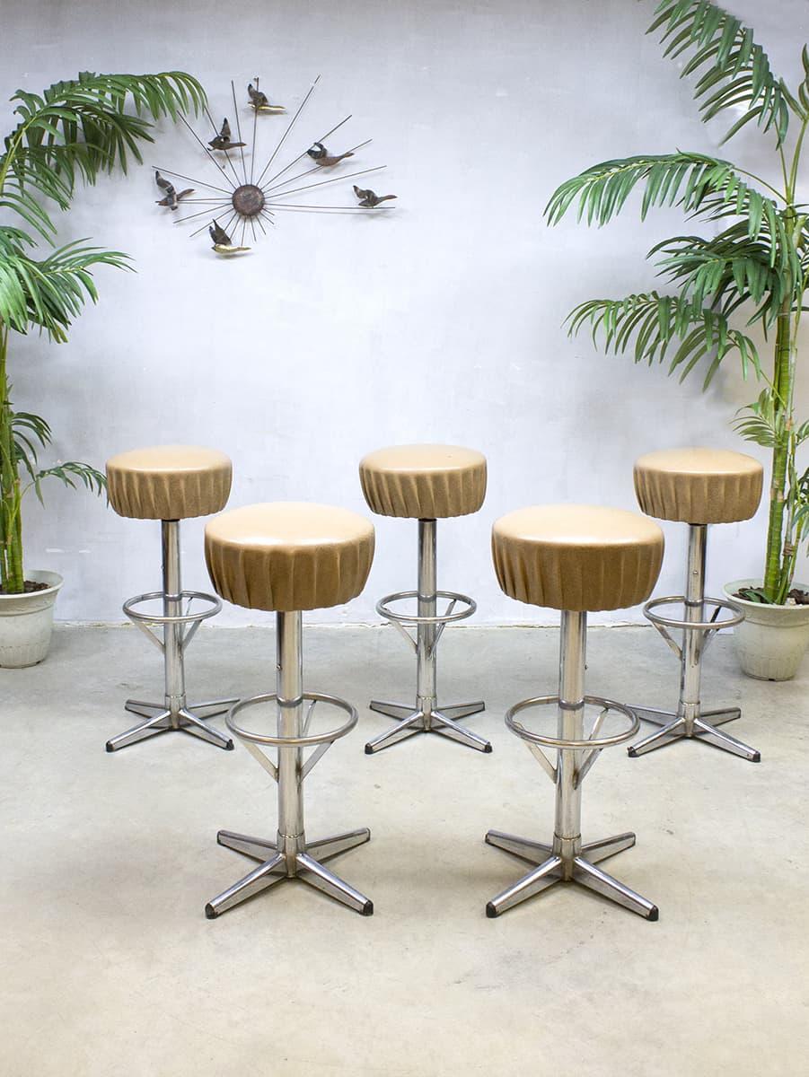 Vintage industri le barkrukken kruk barstools stool industrial - Eigentijdse bar ...