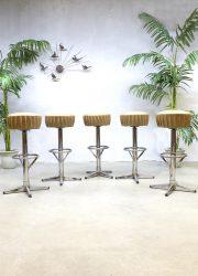 Vintage industriële barkrukken kruk barstools stool industrial