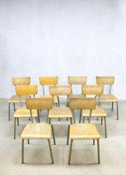 Vintage retro Tubax chairs kidschairs kinderstoelen industrieel