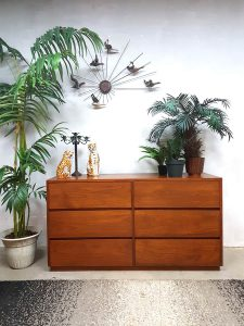 Vintage design ladekast teak, vintage cabinet chest of drawers
