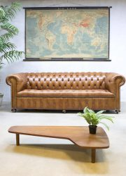Vintage leather chesterfield vintage leren lounge bank XL