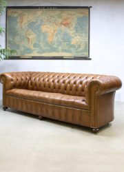 Vintage leather sofa Chesterfield