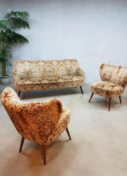 vintage velvet paisley cocktail seating group