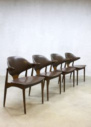 mid century cowhorn chairs Mahjongg dinnerchairs