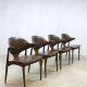 mid century cowhorn chairs Mahjongg dinnerchairs