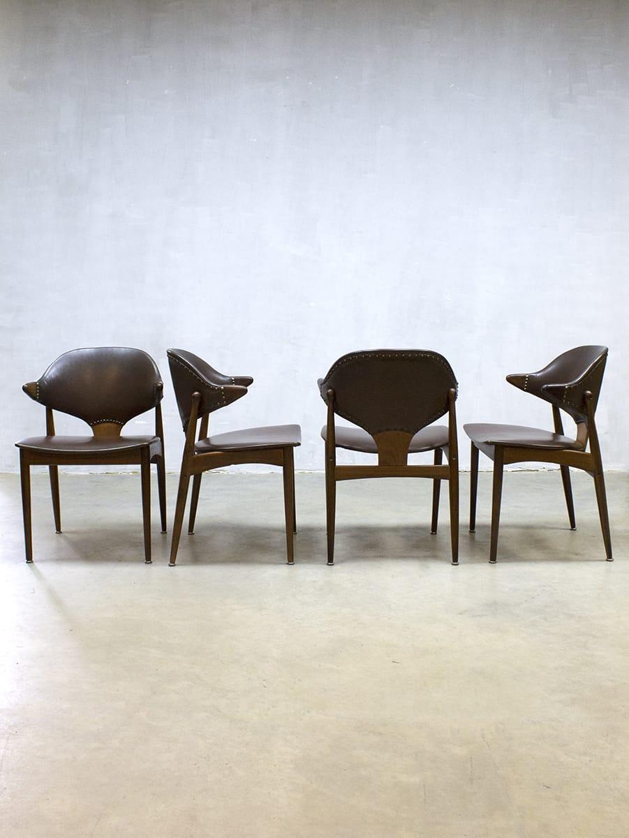 Vintage design cowhorn chairs mahjongg koehoorn for Dutch design eetkamerstoelen