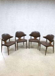 Vintage design cowhorn chairs Mahjongg koehoorn eetkamerstoelen