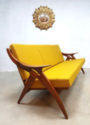 vintage lounge bank sofa De Ster Gelderland Dutch design