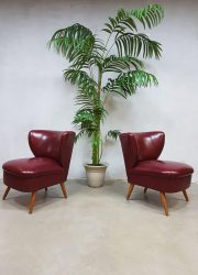 vintage retro cocktail stoelen clubfauteuils expo chairs fifties