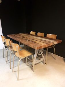 Vintage Industrial bar table dinner table, vintage bar tafel industrieel