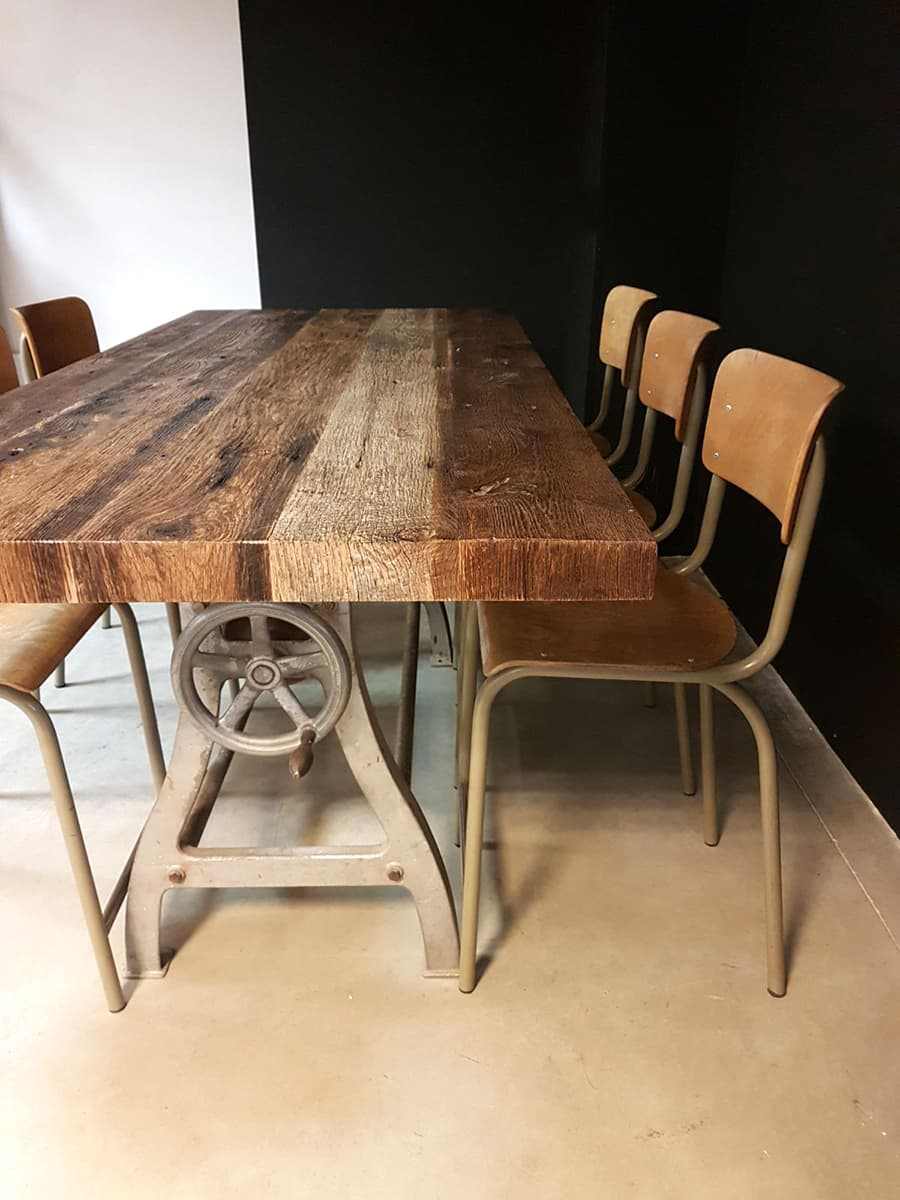 Vintage industrial bar table dinner table vintage bar tafel industrieel - Tafel eetkamer industriele ...