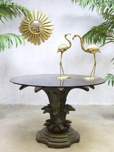 Vintage palm table midcentury eetkamertafel Dubai style