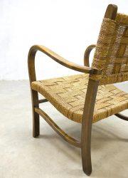 vintage mid century modern rope chair lounge chairs Bas van der Pelt touwstoel