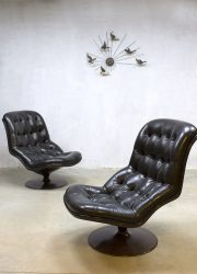 vintage design swivel lounge chair fauteuil Shelby Georges Van Rijck Beaufort