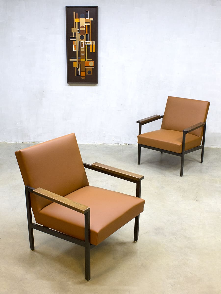 Vintage dutch design tijsseling chair fauteuil gijs van for Dutch design eetkamerstoelen