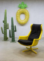 Vintage Space age lounge chair swivel chair Alf Svensson & Yngve Sanström voor Dux