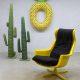 Vintage Space age lounge chair swivel chair Alf Svensson & Yngve Sanström voor Dux