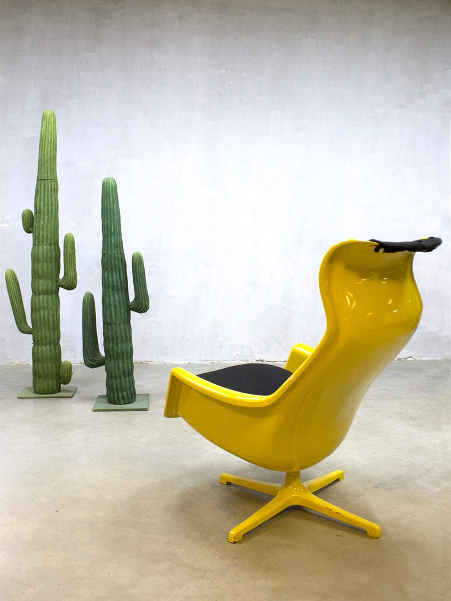 Vintage Space Age Lounge Chair Alf Svensson Yngve Sanström