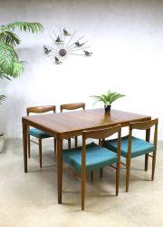 Bramin Danish vintage dining table dinner table chairs eetkamer tafel stoel