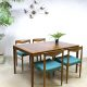 Bramin Danish vintage dining table dinner table chairs eetkamer tafel stoel