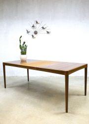 Danish vintage design dinner table dining table Bramin H.W Klein