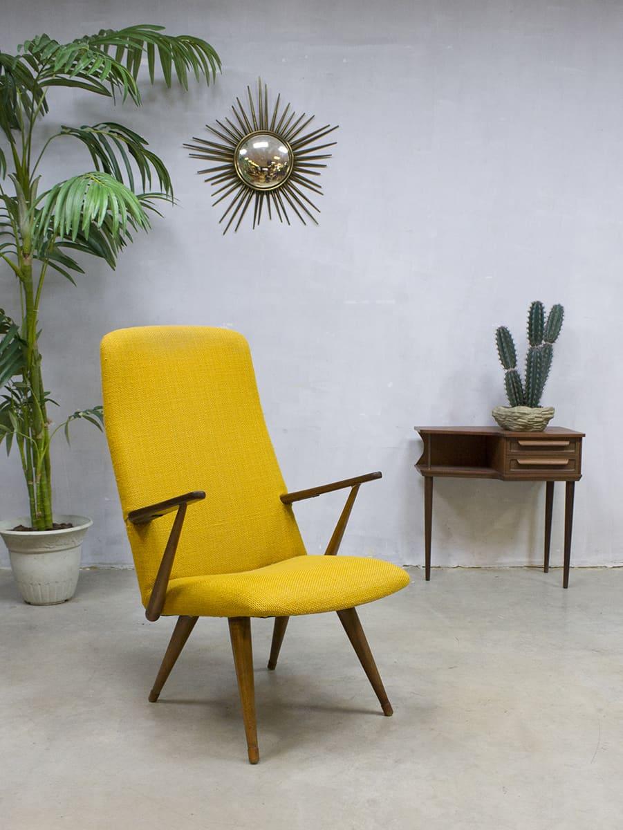 Zweedse Houten Stoel.Vintage Design Lounge Chair Armchair Akerblom Zweedse Fauteuil