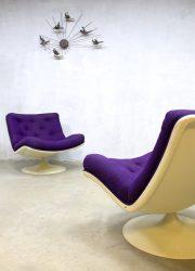 vintage retro spage age draaistoel fauteuil Artifort