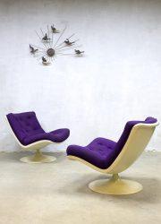 F978 Geoffrey Harcourt vintage stoel fauteuil swivel chai