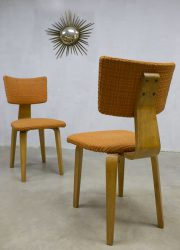 midcentury vintage design Cor Alons dinner chair eetkamerstoel plywood