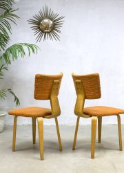 Dutch design dinnerchairs Cor Alons vintage chairs stoelen