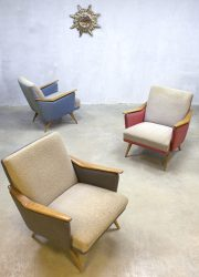 vintage retro lounge chair fauteuil armchair fifties sixties