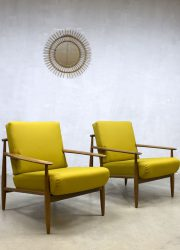 Vintage Deense design fauteuils armchairs lounge chairs