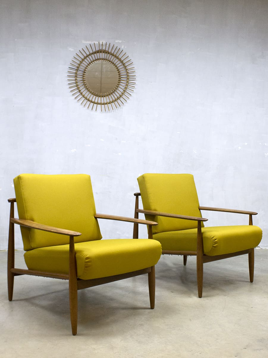 Leuke Design Fauteuil.Midcentury Danish Design Lounge Chairs Vintage Deense Lounge Fauteuils