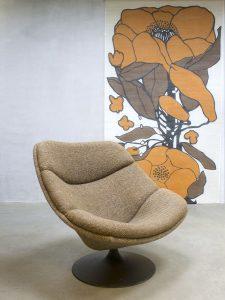 Artifort vintage design swivel chair lounge chair F519 draaistoel G. Harcourt